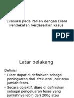 Evaluasi Pada Pasien Dengan Diare