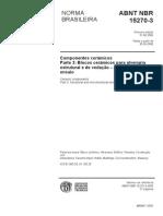 ABNT NBR 15270-3 - Blocos Cerâmicos Para Alvenaria Estrutural