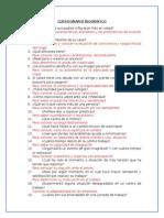 Cuestionario Biografico de 50 Preguntas