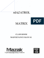 Mazak Mazatrol Matrix Control Classroom Maintenance Manual C740MT0201E