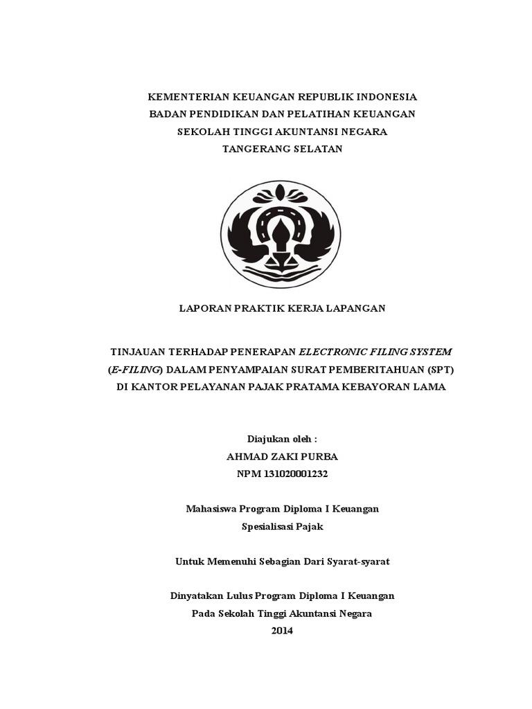 Contoh Laporan Prakerin Jurusan Akuntansi Di Kantor Pajak Kumpulan Contoh Laporan