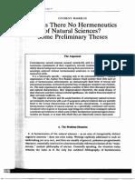 Markus - Hermeneutics of Natural Science