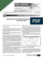 Inventario Marco Normativo Niif 2015