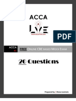 www.acca-live.com | F1 - Accountant in Business FREE CBE based Mock Exam