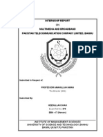 Internship Report PTCL Bannu