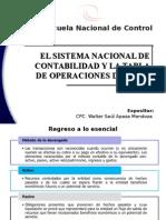 El Sistema Nacional de Contabilidad y El Siaf