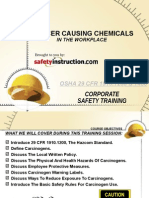 Cancer Causing Chemicals in Workplace