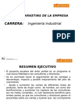 Plan de Marketing de La Empresa