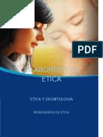 Portada y carátula de aborto y ética