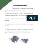 Función de Dos Variables MONOGRAFÍA