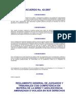 Acuerdo Nxczxo 42-2007 Csj