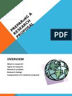 Research Proposal Preparation