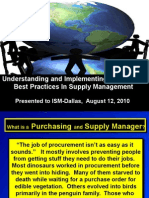 Best Practices in Supply Management