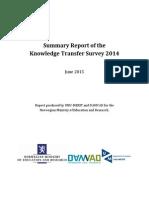 Summary Report KT Survey 2012 - 2013