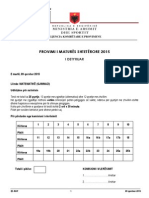 Matematike Gjimnazi 2015, Varianti A