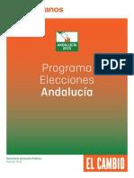 Programa Elecciones Andalucia