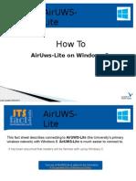 Uni WiFi Windows8