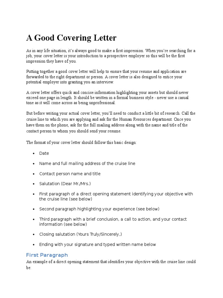 A Good Covering Letter Marten Docx Resume Fee