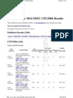 Third Quarter 2014 SPEC CPU2006 Results