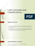 5. Cost Concepts and Classifications