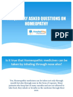 Frequently Asked Questions on Homeopathy