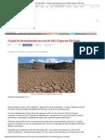 Diário Do Centro Do Mundo » O Papel Do Desmatamento Na Crise de Falta d'Água Em São Paulo