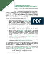 Manifest_La Nostra Salut o El Seu Negoci_17J
