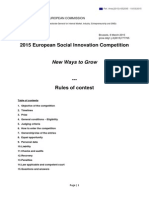 Rules of Contest for 2015 European Social Innovation Competition 6 March 2015