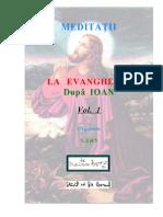 Meditatii Ev Ioan Vol 1