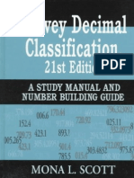 Dewey Decimal Classification 21st Edition  a Study Manual and Number Building Guide