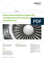 Generating Analytics Impact for a Leading Aircraft Component Manufacturer