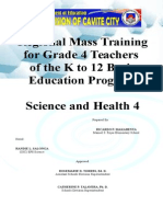 SCIENCE 4 Lesson Plan Grade 4 K to 12 Mass Training