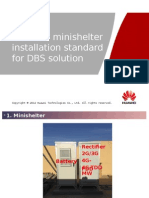 Minishelter Installation Standard for DBS Solution
