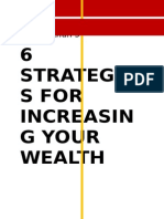 6 Strategies for Increasing Your Wealth