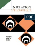 Augusto Salazar Bondy - Iniciación Filosófica