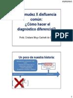 2. Tartamudez X Disfluencia Común - Cómo Hacer El Diagnóstico Diferencial
