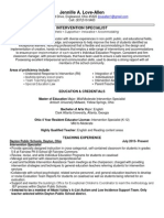 intervention specialist resume jloveallen 6 4 15