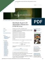 Resolução Da Prova de Matemática Financeira–ICMS RJ 2014 « Blog de Exatas Para Concursos