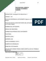 315tptrabajo Practico Investigacion de Operaciones 1 Mili