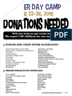 Summer Day Camp Donations for Web