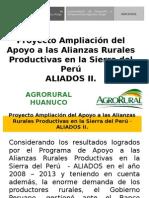 Proyecto Ampliación Del Apoyo a Las Alianzas Rurales