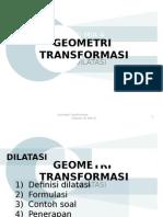 Geometri Transformasi (Dilatasi)