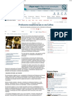 PD - Professores manifestaram-se em Lisboa