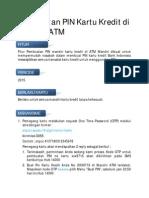 pembuatan Pin KArtu Kredit