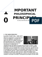 The 10 Most Important Philosophical Principles