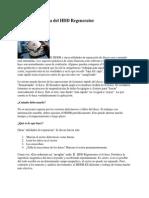 Apuntes Acerca Del HDD Regenerator