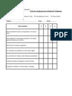Lista de Cotejo Revisión de Cuadernos