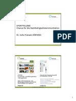 STORYTELLING | Chance für die Nachhaltigkeitskommunikation