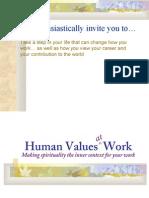 Human Values at Work