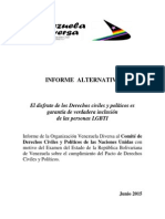 Informe Alternativo PIDCP Venezuela Diversa